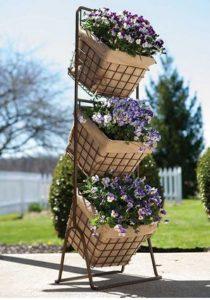 3 Tier Harvest Basket Planter Stand