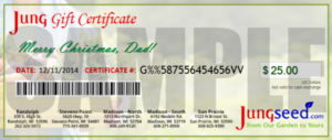 Jung Seed Gift Certificate