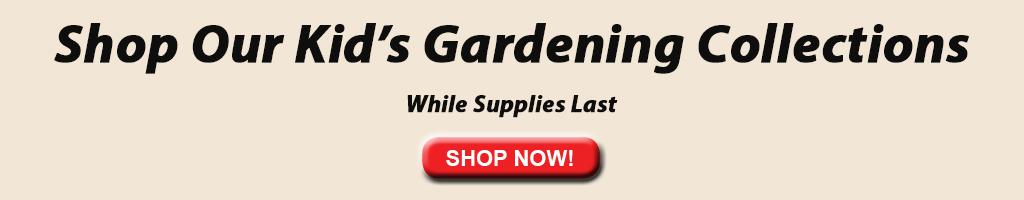 Banner de jardinería infantil