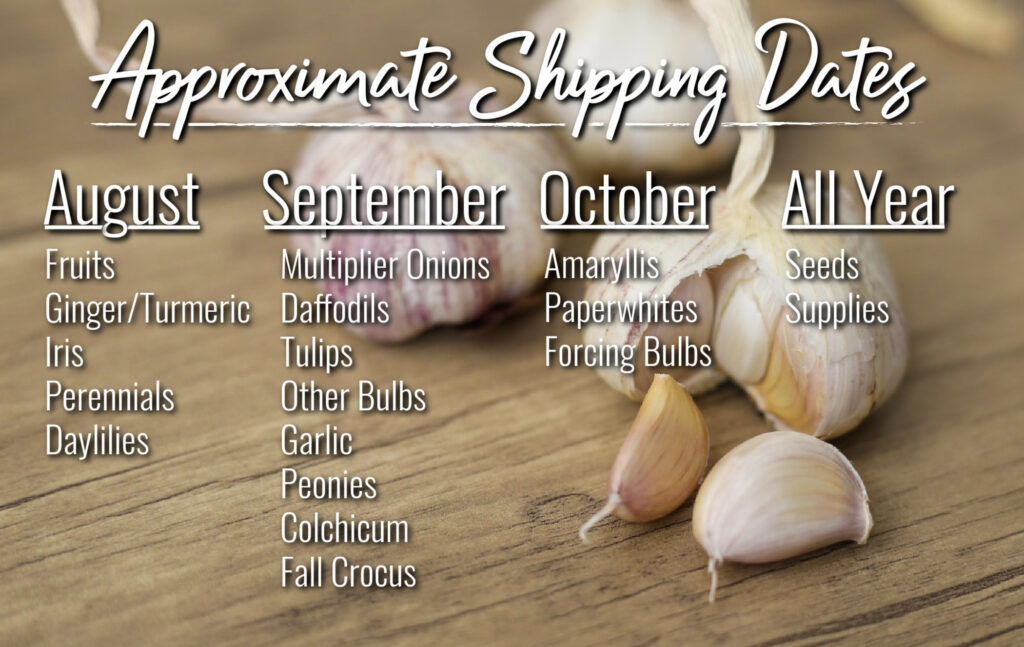 Shipping Schedule 2020