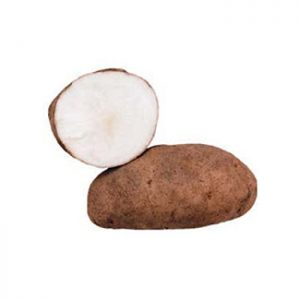 Two Gold Rush potatoes
