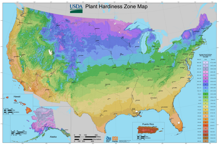 USDA Garden Zones